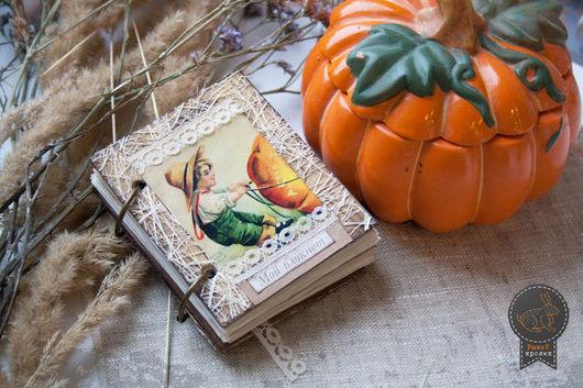 """Подарки на Хэллоуин ручной работы. Ярмарка Мастеров - ручная работа. Купить Блокнот """"В ночь на Хеллоуин"""". Handmade. Бежевый"""