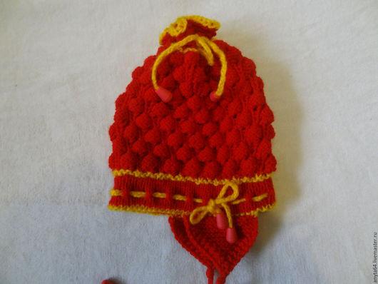 Шапки и шарфы ручной работы. Ярмарка Мастеров - ручная работа. Купить шапочка. Handmade. Ярко-красный, шапочка, шапочка с ушками