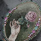 """Брошь-булавка ручной работы. Ярмарка Мастеров - ручная работа Брошь """"Роза из сада"""" ювелирная вышивка. Handmade."""
