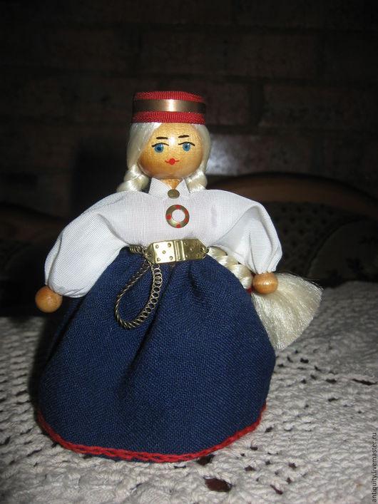 Винтажные куклы и игрушки. Ярмарка Мастеров - ручная работа. Купить Кукла сувенирная в национальном костюме Рига Dallrade СССР. Handmade.