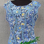 Одежда ручной работы. Ярмарка Мастеров - ручная работа Топ голубой. Handmade.