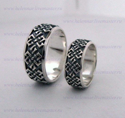 Обручальные кольца с объёмным орнаментом