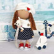"""Куклы и игрушки ручной работы. Ярмарка Мастеров - ручная работа Текстильная интерьерная кукла """"Морячка"""". Handmade."""