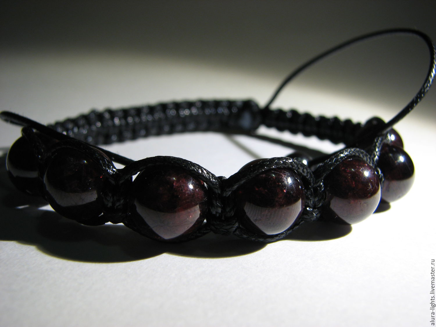 Shamballa bracelet with garnet 'Just for you', Bead bracelet, Moscow,  Фото №1