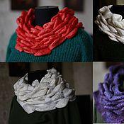 Материалы для творчества ручной работы. Ярмарка Мастеров - ручная работа 3D шарфы, видео-урок. Handmade.