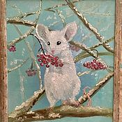 """Картины ручной работы. Ярмарка Мастеров - ручная работа Картина """"Мышкин обед"""". Handmade."""