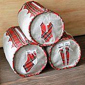 Сумки и аксессуары handmade. Livemaster - original item Handbags. Storage of linen. Plaid cage. Handmade.