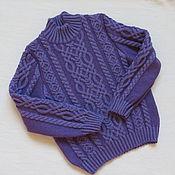 """Работы для детей, ручной работы. Ярмарка Мастеров - ручная работа """"Зимний"""" мериносовый свитер. Handmade."""
