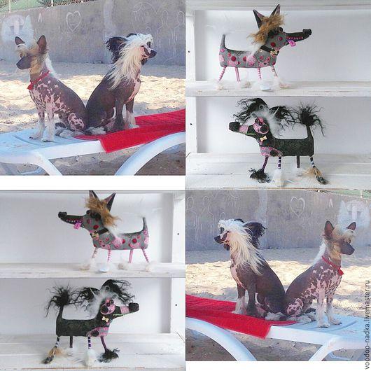 Игрушки животные, ручной работы. Ярмарка Мастеров - ручная работа. Купить Китайские хохлатки текстильные собаки игрушки на заказ. Handmade.