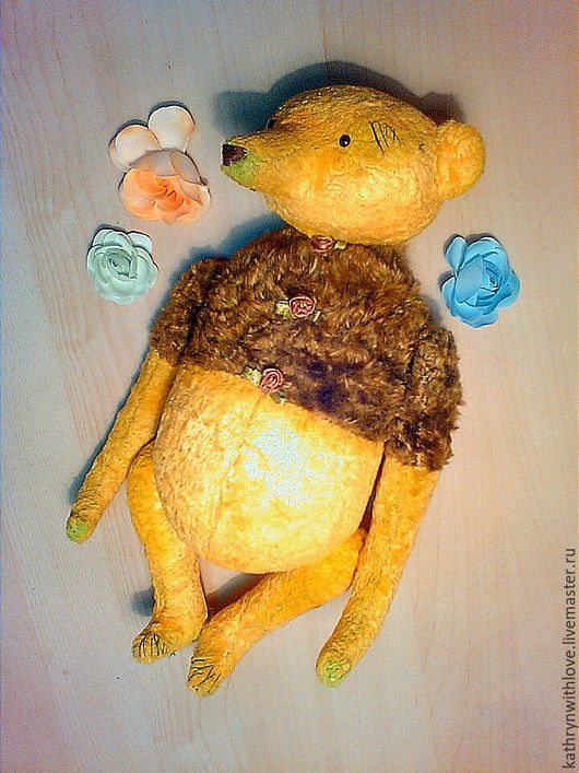 Мишки Тедди ручной работы. Ярмарка Мастеров - ручная работа. Купить Laim. Handmade. Желтый, антикварный плюш, мишка-тедди