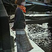 """Одежда ручной работы. Ярмарка Мастеров - ручная работа Валяная юбка """".. и осень пройдет)"""". Handmade."""