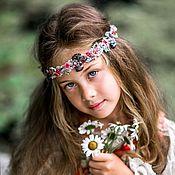 Украшения handmade. Livemaster - original item Wreath of Roses and forget-me-nots. Handmade.