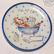 "Посуда ручной работы. Ярмарка Мастеров - ручная работа Тарелка ""Milky Day"". Handmade."