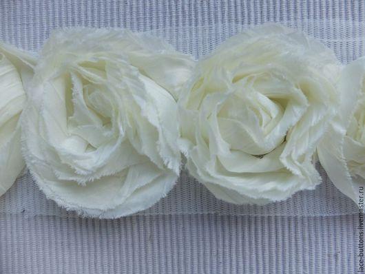 Шитье ручной работы. Ярмарка Мастеров - ручная работа. Купить Объемные цветы цвета шампанского 7см. Handmade. Объемные цветы