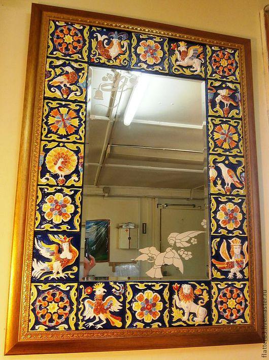 Зеркала ручной работы. Ярмарка Мастеров - ручная работа. Купить зеркало Изразцовая сказка. Handmade. Украшение интерьера, оригинальный подарок