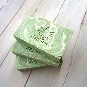 Косметика ручной работы. Ярмарка Мастеров - ручная работа Эко-мыло со спирулиной, натуральное мыло. Handmade.