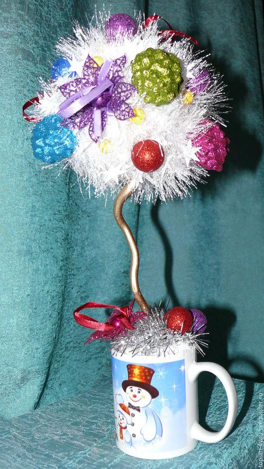 Новый год 2017 ручной работы. Ярмарка Мастеров - ручная работа. Купить топиарий Новогодний, подарок 2016, Новый Год. Handmade.