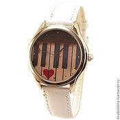 Украшения ручной работы. Ярмарка Мастеров - ручная работа Дизайнерские наручные часы  One Love. Old Piano. Handmade.