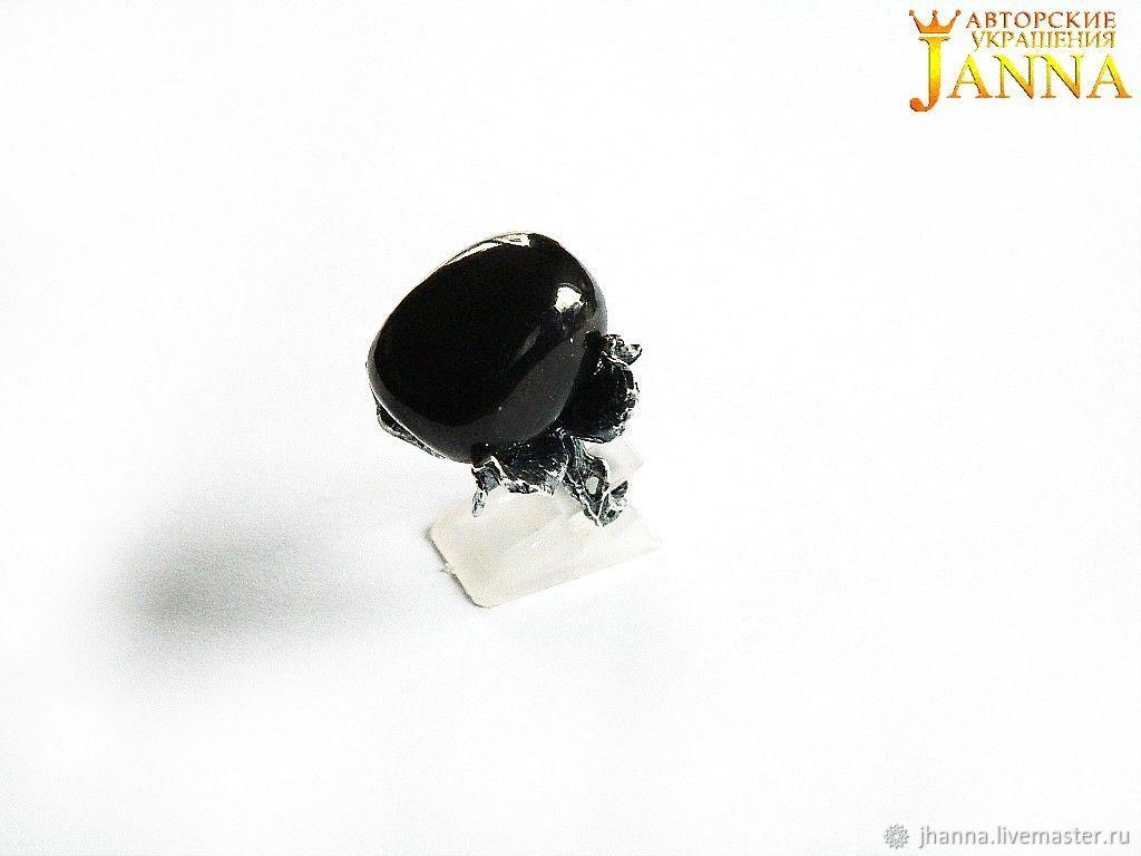 Shungite.  ' Verа' ring with natural shungite, Rings, Volgograd,  Фото №1