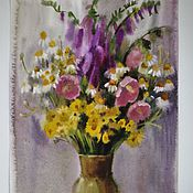 """Картины и панно ручной работы. Ярмарка Мастеров - ручная работа акварель """"Летние цветы"""" бумага акварель. Handmade."""