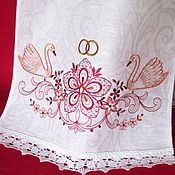 Свадебный салон ручной работы. Ярмарка Мастеров - ручная работа Рушник свадебный с вышивкой 1006. Handmade.