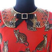 Аксессуары ручной работы. Ярмарка Мастеров - ручная работа Воротник с вышивкой в стиле Dolce & Gabbana. Handmade.