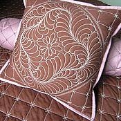 """Для дома и интерьера ручной работы. Ярмарка Мастеров - ручная работа Покрывало и подушки """"""""Брауни"""". Handmade."""
