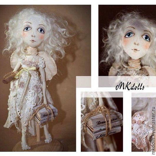 Коллекционные куклы ручной работы. Ярмарка Мастеров - ручная работа. Купить Муза. Handmade. Бежевый, авторская кукла, интерьерная кукла