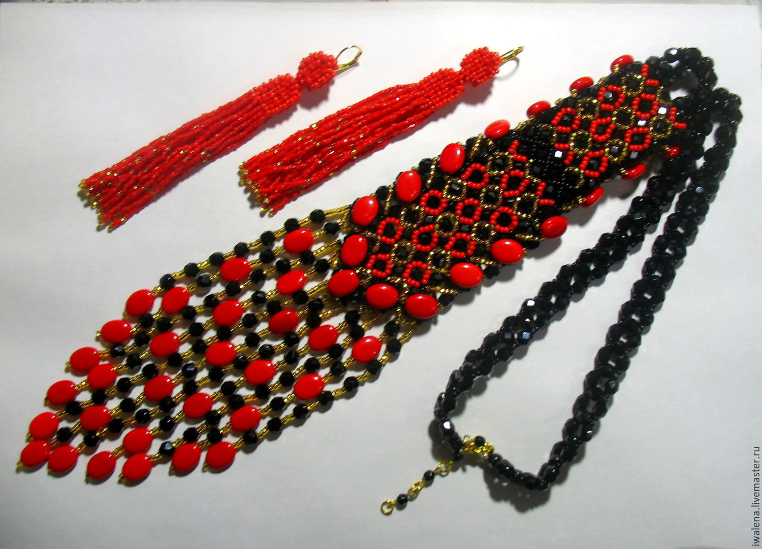 tie of beads with pendants, Necklace, St. Petersburg, Фото №1