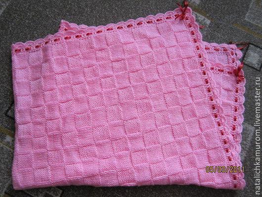 Пледы и одеяла ручной работы. Ярмарка Мастеров - ручная работа. Купить Плед детский. Handmade. Розовый, однотонный, плед