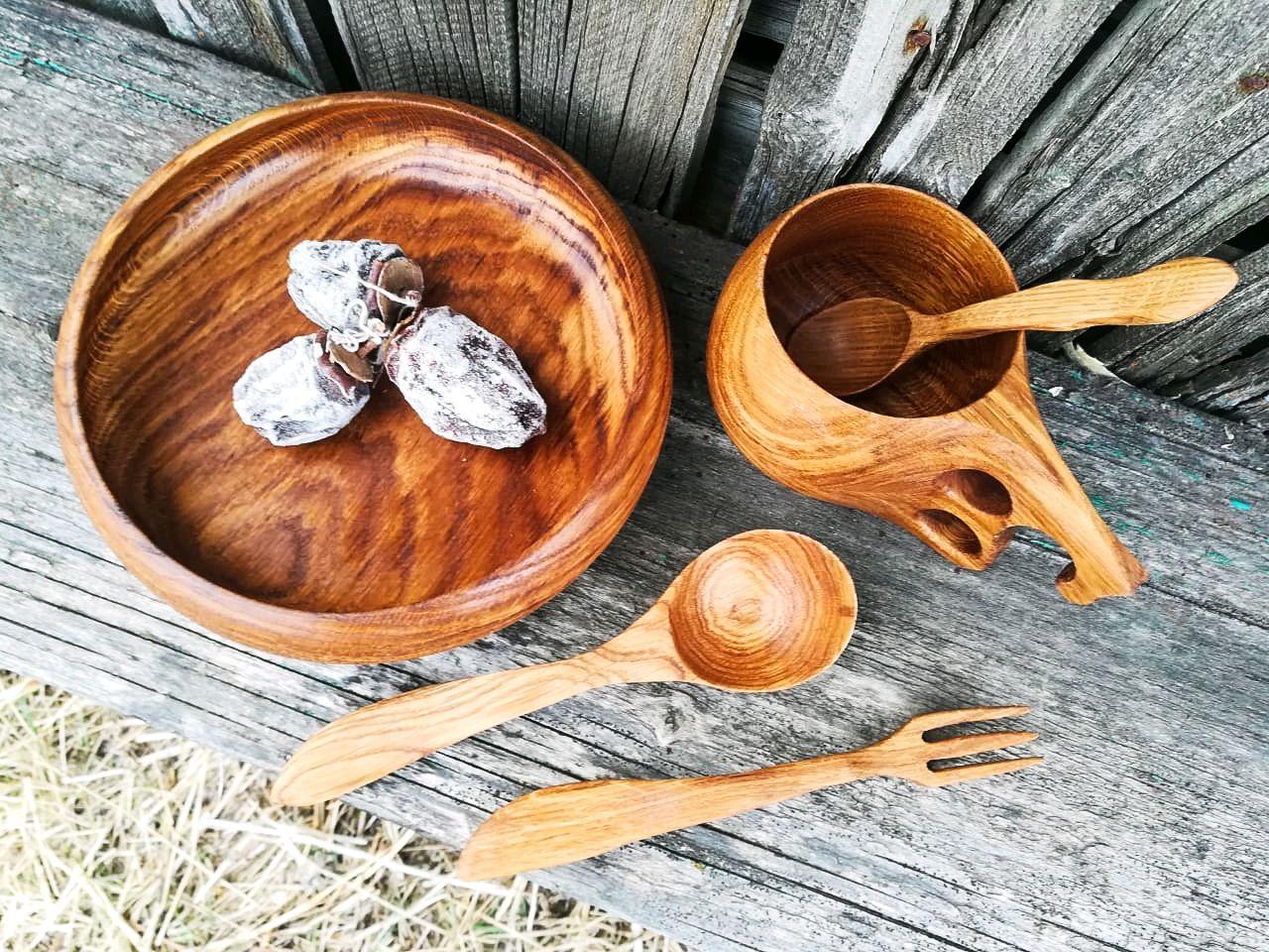 Деревянная посуда в картинках