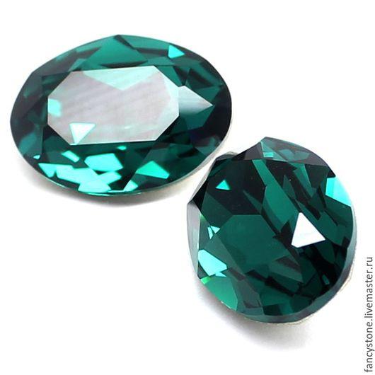 Для украшений ручной работы. Ярмарка Мастеров - ручная работа. Купить Oval Swarovski, 18х13мм, Emerald, Овальные кристаллы Сваровски. Handmade.