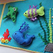 """Куклы и игрушки ручной работы. Ярмарка Мастеров - ручная работа Развивающее панно """"Море"""". Handmade."""
