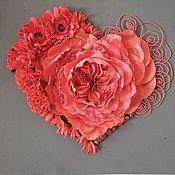 Панно ручной работы. Ярмарка Мастеров - ручная работа Настенный декор, панно на стену, декоративное панно сердце. Handmade.
