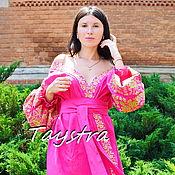Одежда handmade. Livemaster - original item Dress Dressing Gown Color Embroidery Linen Vyshyvanka Ukrainian. Handmade.