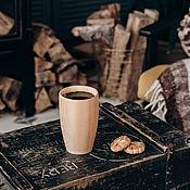 Посуда handmade. Livemaster - original item Natural wood glass 15 cm Siberian cedar C29. Handmade.