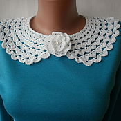 Аксессуары handmade. Livemaster - original item Lacy collar necklace with brooch
