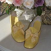 Винтаж ручной работы. Ярмарка Мастеров - ручная работа Туфли лаковые QUALI CRAFT, размер 7,5 (24 см по стельке). Handmade.