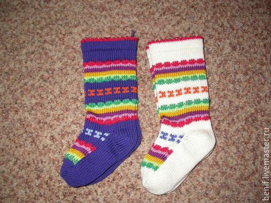Носки, Чулки ручной работы. Ярмарка Мастеров - ручная работа. Купить Вязаные носки. Handmade. Разноцветный, черный, белый, серый