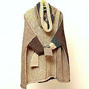Одежда ручной работы. Ярмарка Мастеров - ручная работа Свитер оверсайз туника свободной вязки уютный лёгкий. Handmade.