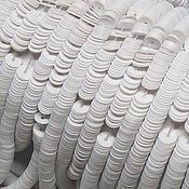 Пайетки ручной работы. Ярмарка Мастеров - ручная работа Французские пайетки 4 мм фарфоровые Chalck White. Handmade.