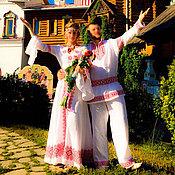 Русский стиль handmade. Livemaster - original item The wedding dress Slavic style. Handmade.