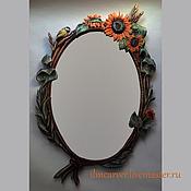 Для дома и интерьера handmade. Livemaster - original item Mirror in carved frame