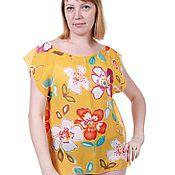 Одежда ручной работы. Ярмарка Мастеров - ручная работа Яркая блузка на лето. Handmade.