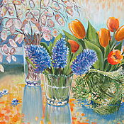 """Картины и панно ручной работы. Ярмарка Мастеров - ручная работа Картина маслом """"Весенний свет- цвет"""". Handmade."""