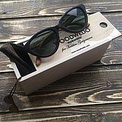 Аксессуары ручной работы. Ярмарка Мастеров - ручная работа Деревянные очки Woodwedo Koshka Mini. Handmade.