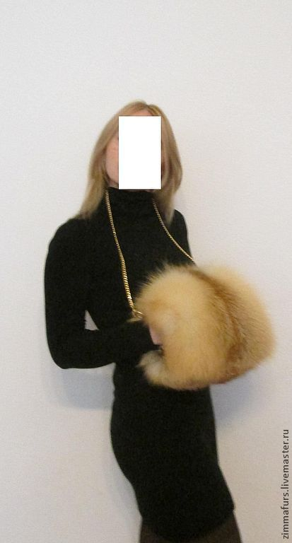 Clutch made of fur Siberian red Fox, Bags, Omsk, Фото №1