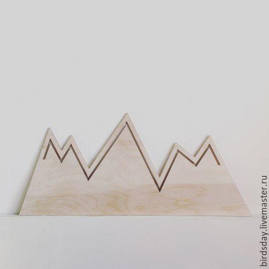Детская ручной работы. Ярмарка Мастеров - ручная работа. Купить Гора декоративная. Handmade. Белый, гора, фанера, декор для интерьера