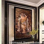 Картины и панно ручной работы. Ярмарка Мастеров - ручная работа Панно из натуральной кожи.. Handmade.