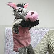 Куклы и игрушки handmade. Livemaster - original item Donkey glove puppet.. Handmade.